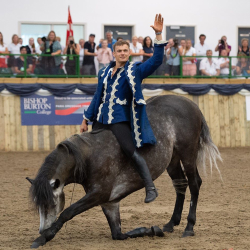 Horse Stunt Rider Ben Atkinson: 'It Was Great to be Back at Bishop Burton'