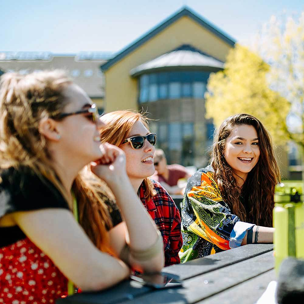Bishop Burton College College Students Socialising on Campus