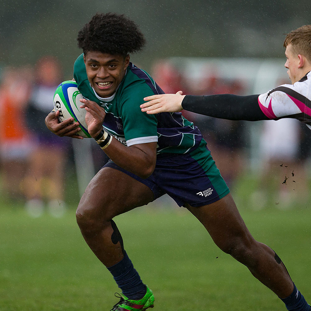 Rugby Academy player and sport student Api Bavadra playing for Bishop Burton College