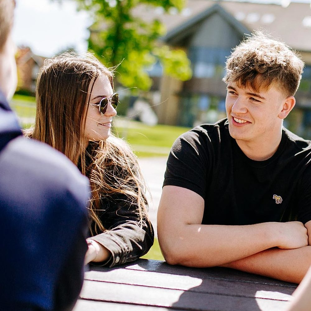 Bishop Burton College About Us Students Socialising on Campus