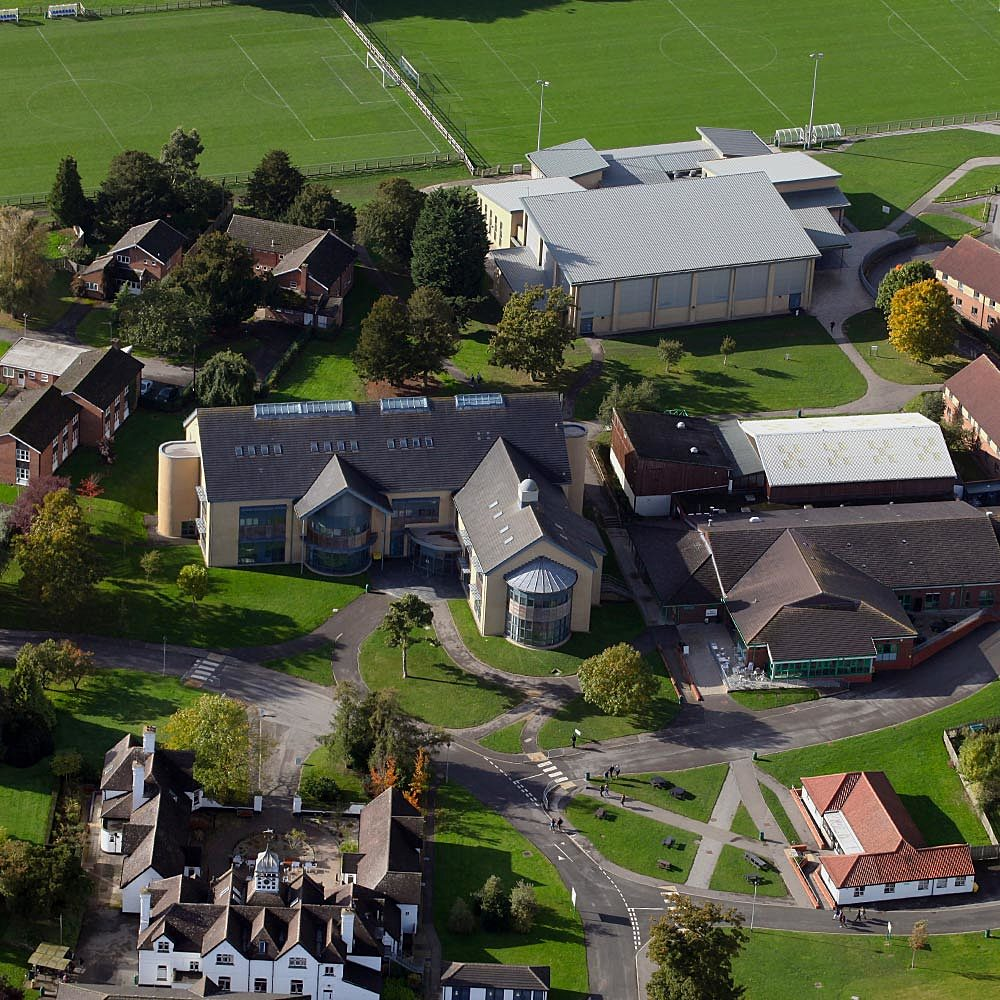 Aerial view of the Bishop Burton College and University Centre campus, which can be toured during Open Events